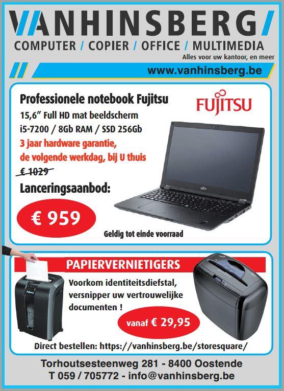 Fujitsu Lifebook E458 lanceringsaanbod