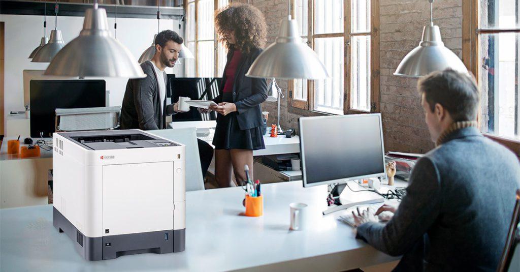 Kyocera printer in werkomgeving
